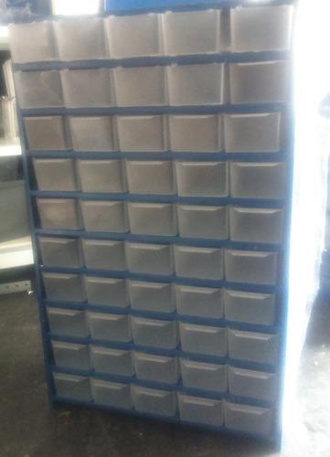 anaquel metalico visible  20 gavetas de plastico