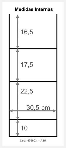 anaquel - organizador de ducha 35x74 para baño
