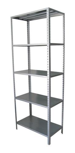 anaqueles/ estantes metalicos lisos con 6 peldaños