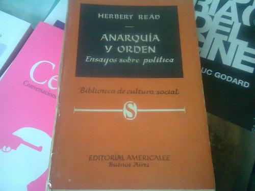 anarquia y orden ensayos herbert read americalee