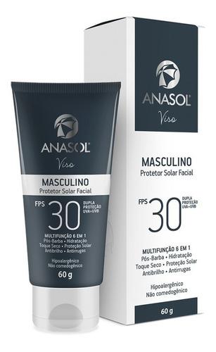 anasol protetor solar facial masculino fps 30 60 g