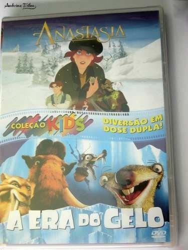anastasia + era do gelo ( 2 filmes ) dvds lacrado original