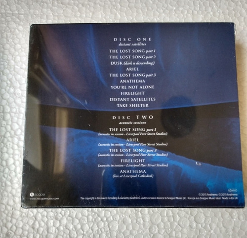 anathema distant satellites tour edition 2 cds