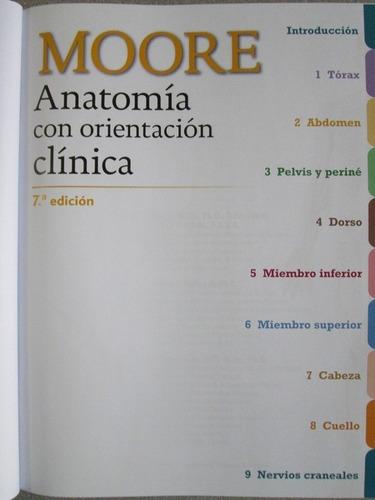 anatomía con orientación clínica 7a edición - moore