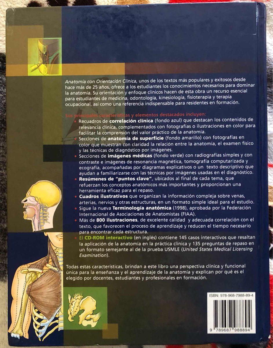 Anatomia Con Orientacion Clinica Moore - $ 50.000 en Mercado Libre