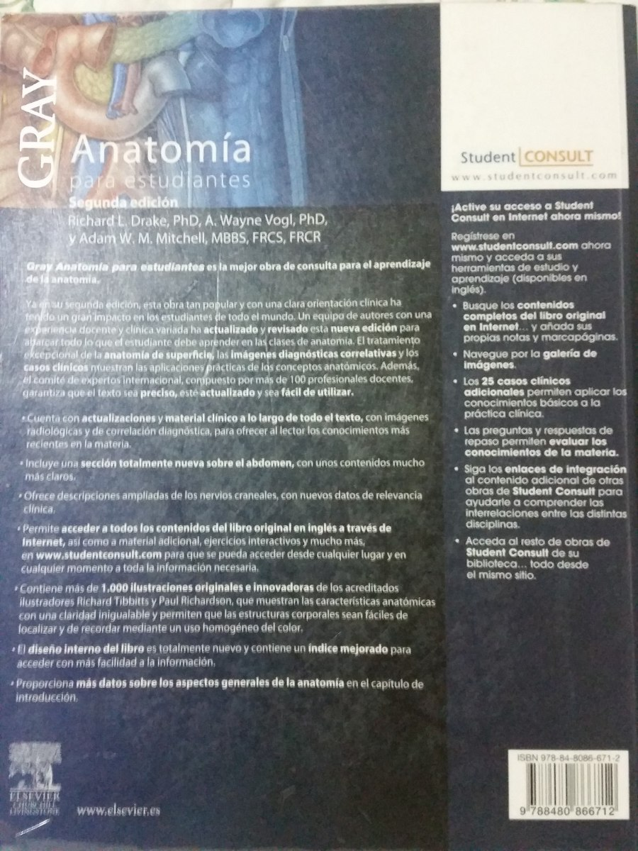 Anatomía De Gray Para Estudiantes, Segunda Edición (2010 ...