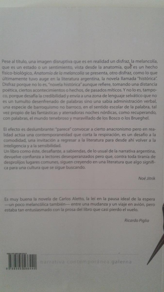Anatomia De La Melancolia - Carlos Daniel Aletto - Galerna - $ 180 ...