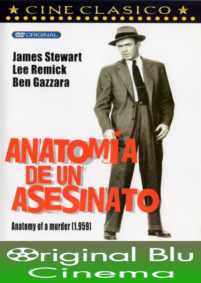 Anatomía De Un Asesinato (1959) Dvd Original - Almagro - $ 650,03 en ...