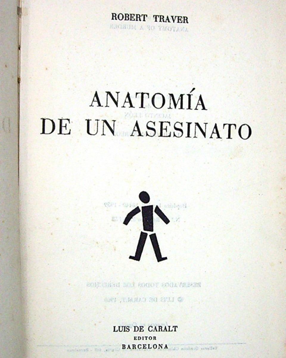 Anatomía De Un Asesinato Robert Traver - $ 7.900 en Mercado Libre