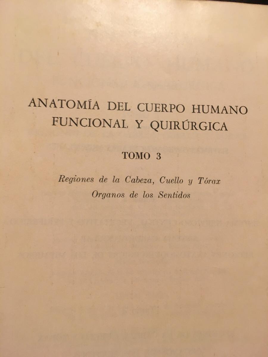 Anatomia Del Cuerpo Humano Funcional Y Quirurgica - $ 230,00 en ...