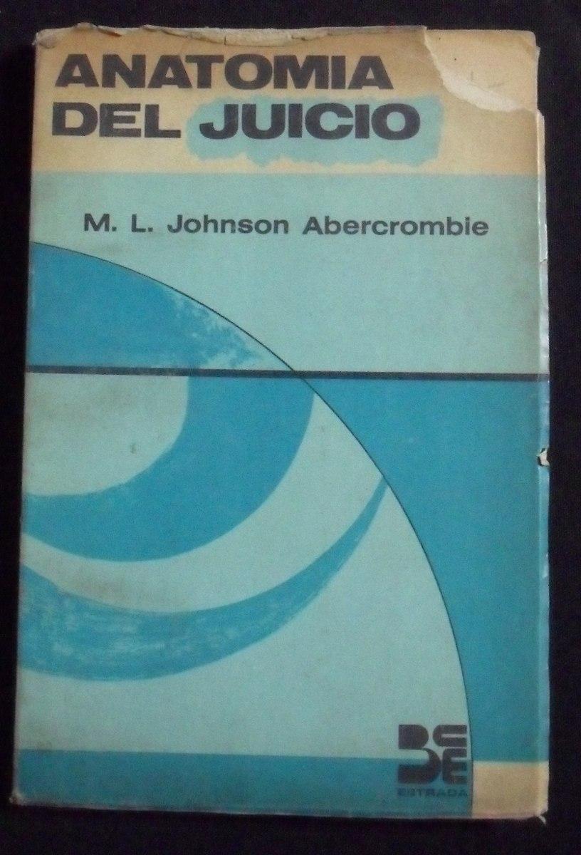 Anatomia Del Juicio M. L. Johnson Abercrombie - $ 60,00 en Mercado Libre