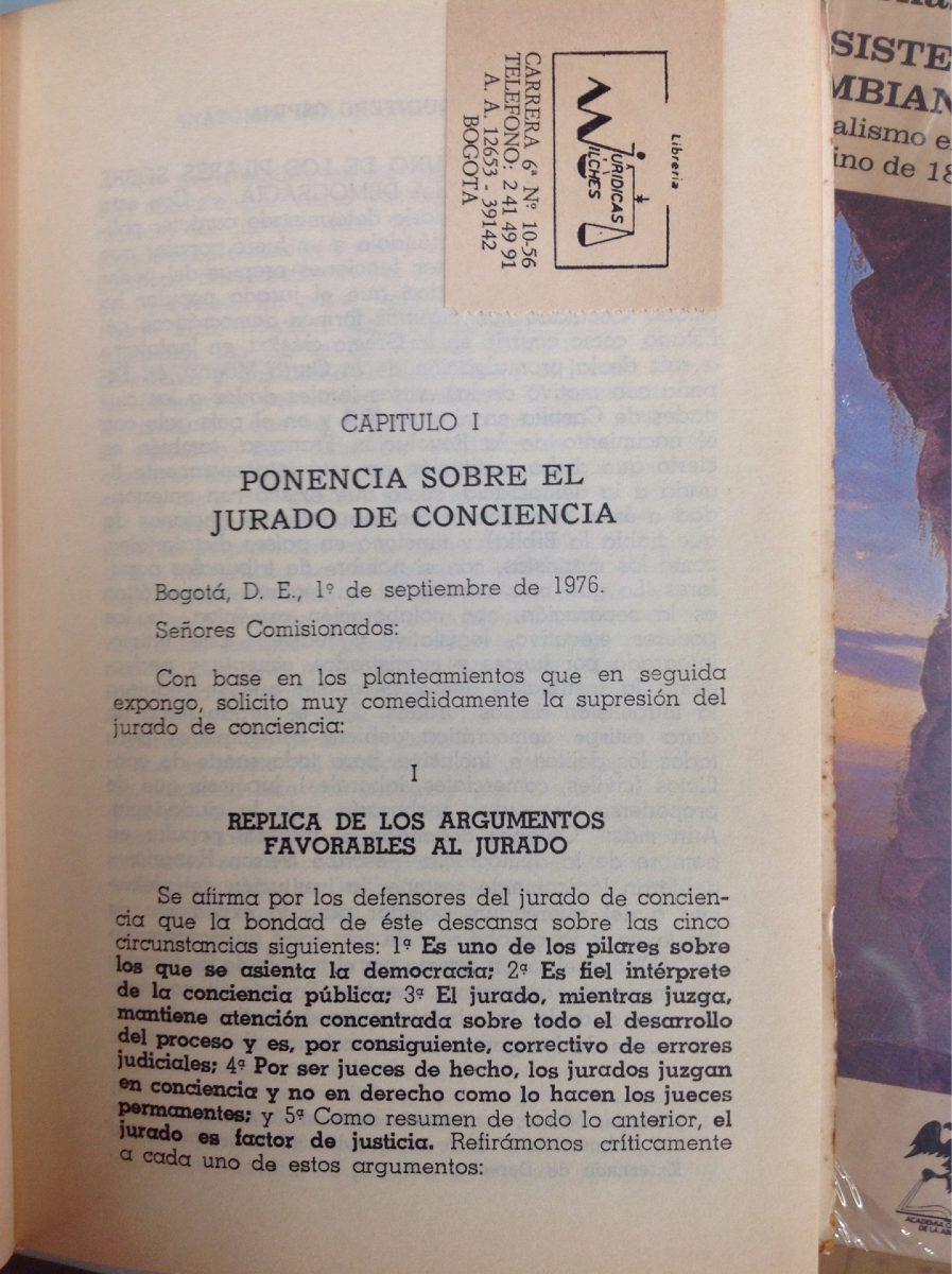 Anatomía Del Jurado De Conciencia. Tiberio Quintero - $ 30.000 en ...