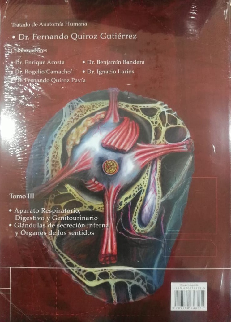Anatomia Humana 3 Vol. - Fernando Quiroz Gutierrez Envio Exp ...