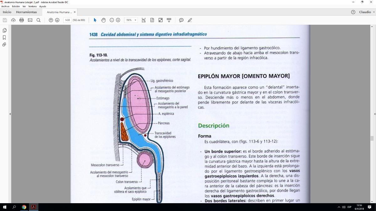 Anatomia Humana Latarjet 4 Los 2 Tomos - $ 399,00 en Mercado Libre