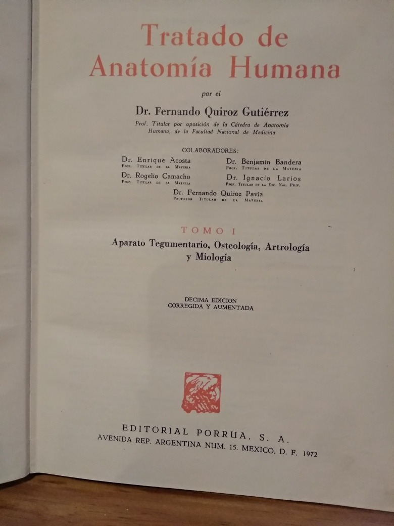 Anatomía Humana. Quiroz 3 Tomos - $ 900.00 en Mercado Libre