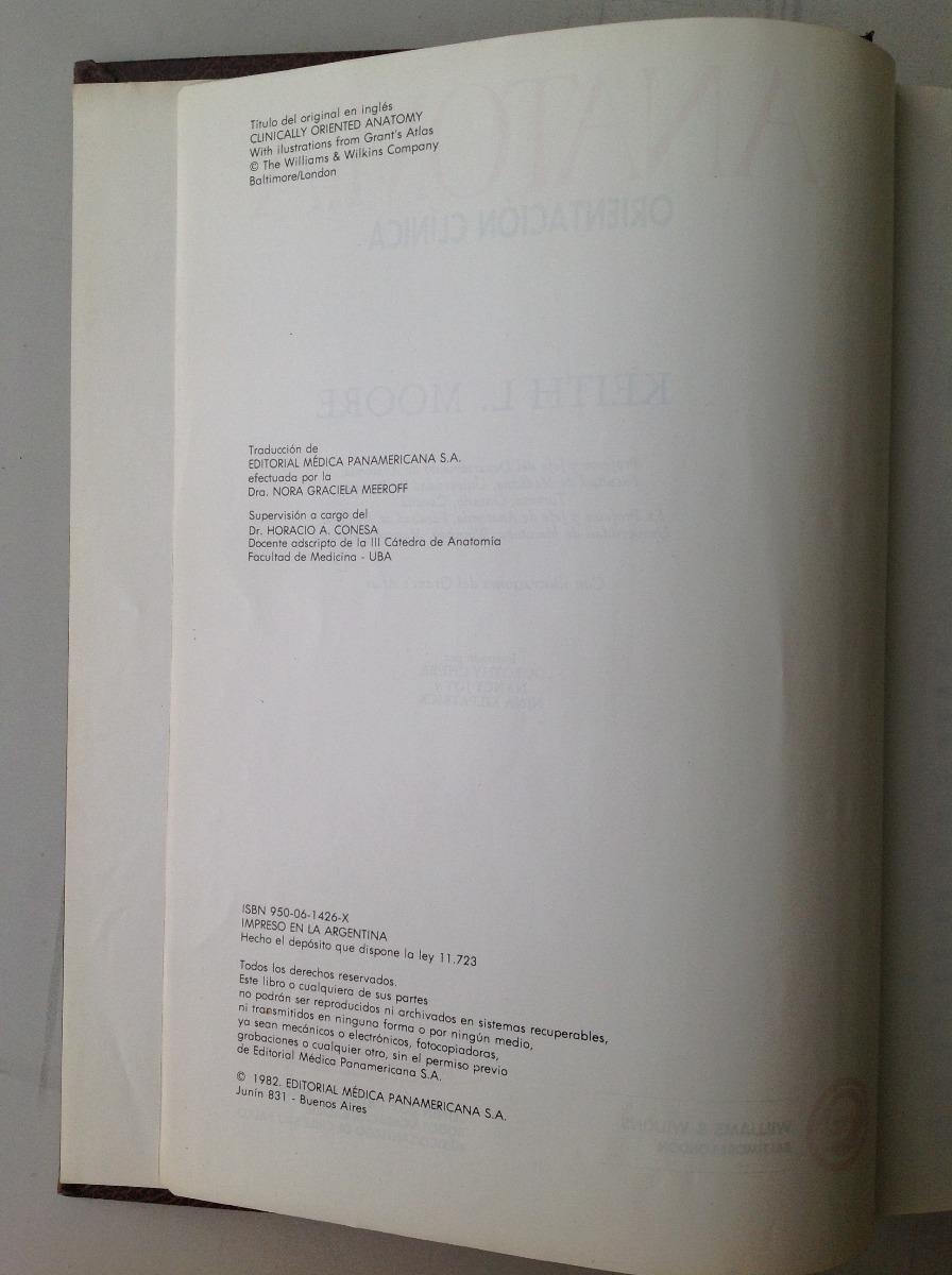 Anatomía Orientación Clínica - Moore - $ 575,00 en Mercado Libre