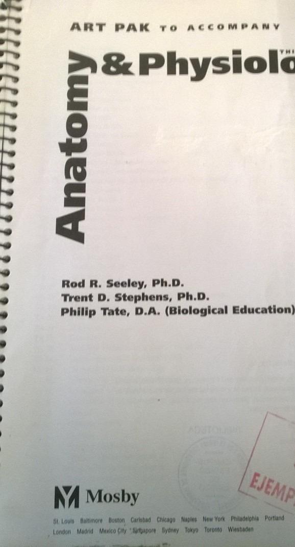 Anatomia Y Fisiologia Art Pak 3rd Seeley Medicina Laminas - $ 299.00 ...