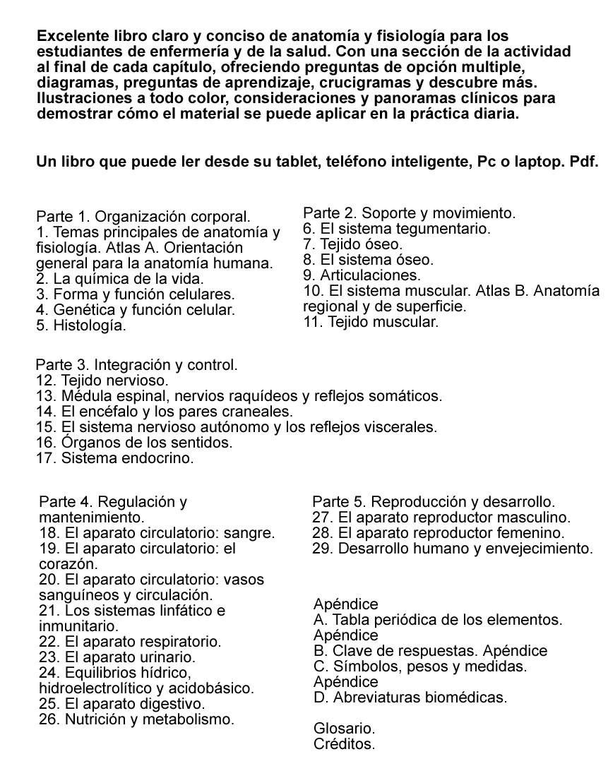 Anatomía Y Fisiología. Envío Gatuito - Bs. 0,30 en Mercado Libre