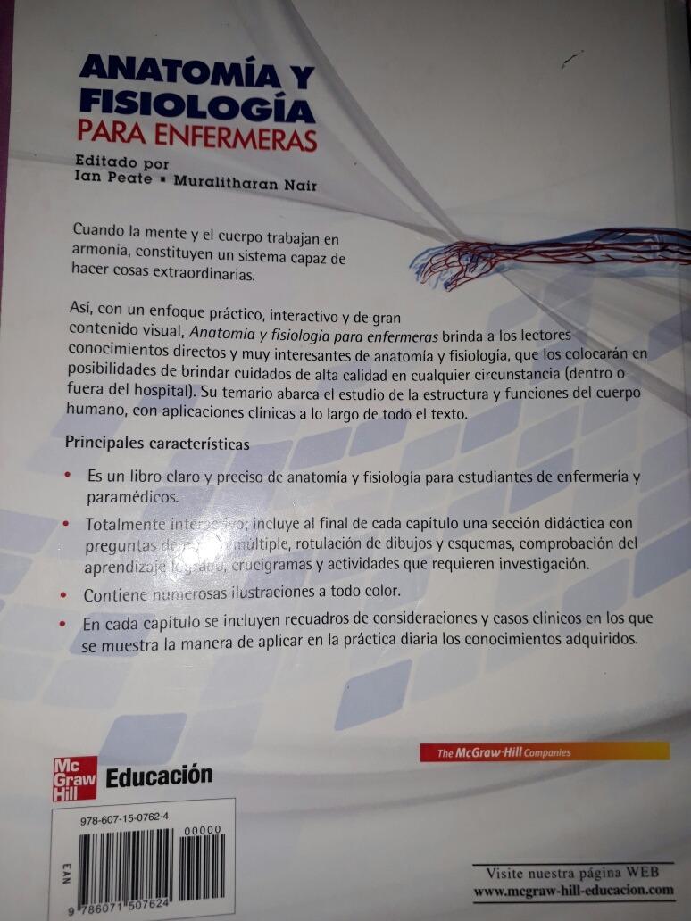 Anatomía Y Fisiología Para Enfermeras - $ 600.00 en Mercado Libre