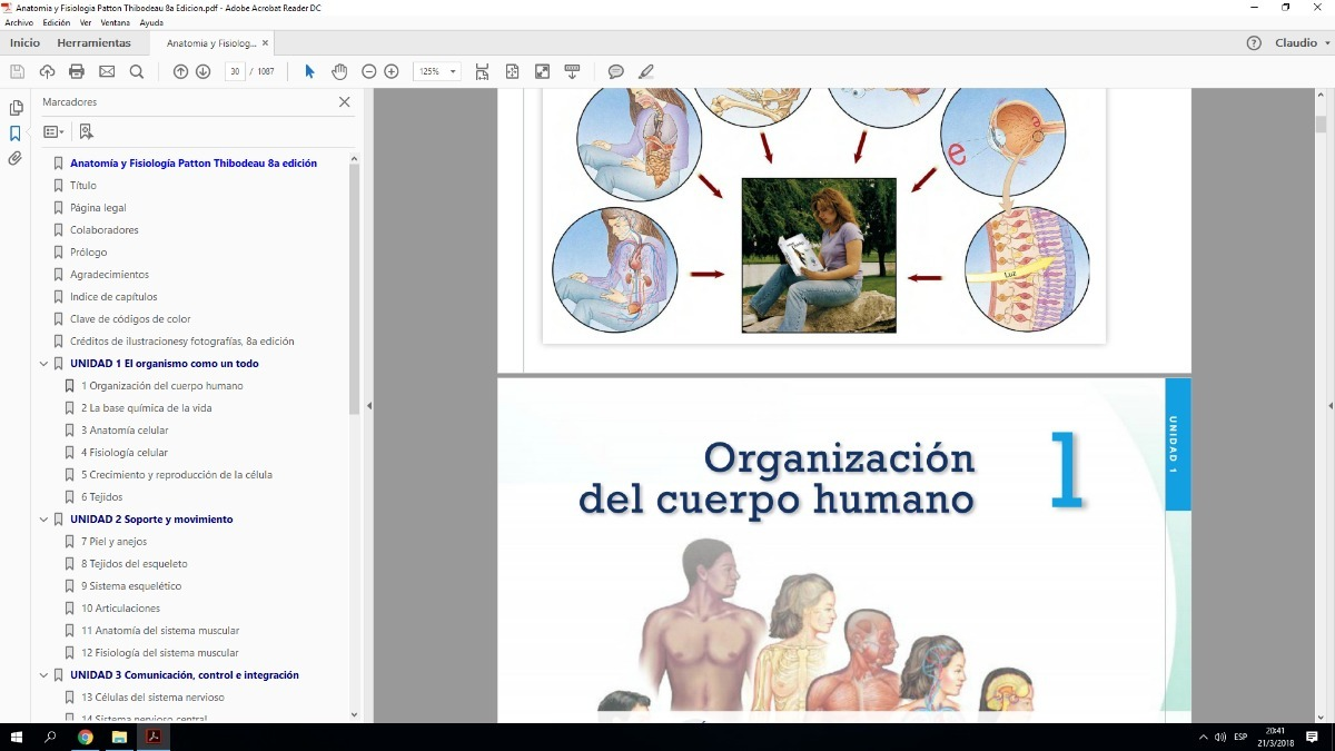 Único Anatomía Y Fisiología Y Patton Thibodeau 8ª Edición ...