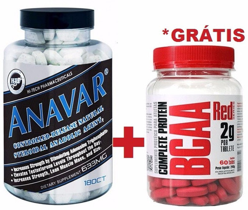 anavar hi-tech (180 tabs) pré-hormonal usa + bcaa grátis