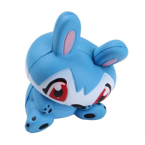 anboor 4.7  conejo squishie conejito azul slow rising kawaii