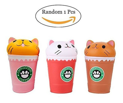 anboor 5.3 squishies cat coffee cup jumbo slow rising kawaii