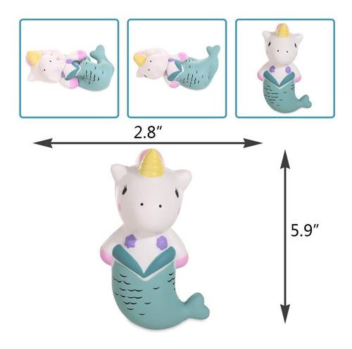 anboor 5.9  squishie unicornio sirena de kawaii suave aument