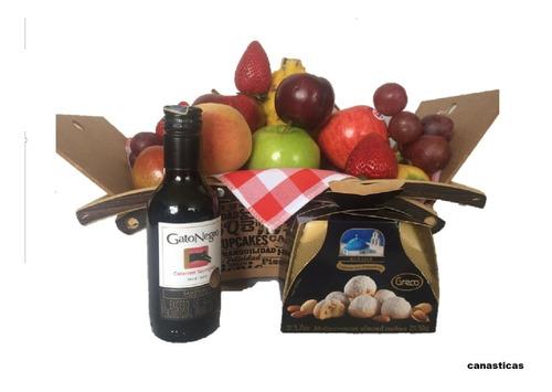 ancheta frutal mini en picnic incluye decoración cumpleaños