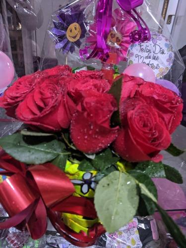 ancheta y flores sorpresa de amor. para toda ocasión
