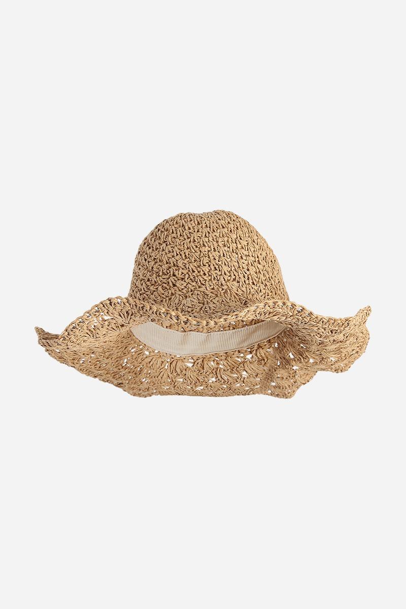Ancho Borde Plegable Ganchillo Paja Sombrero - $ 279.83 en Mercado Libre