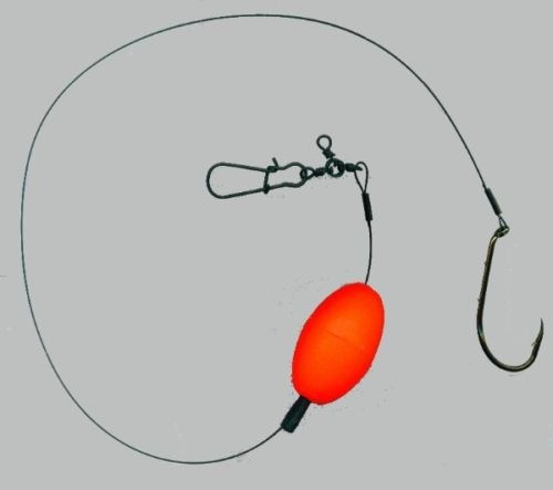 anchoa con spinning - señuelo de flote con mustad