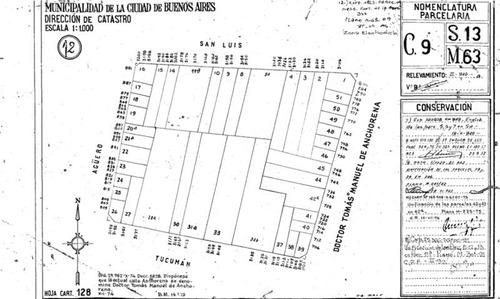 anchorena y san luis 9,20 x 48 apto 2000 m2 vend por enrrase