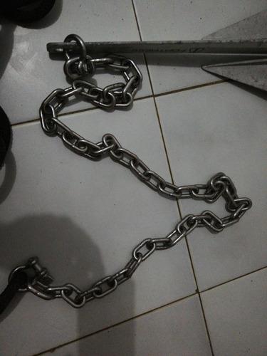 ancla aluminio 62 ctm cuerda 30m cadena acero. 62 largo
