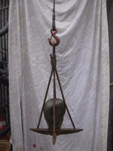 ancla chilota de 4 puntas n° 3 ,decoración y uso.