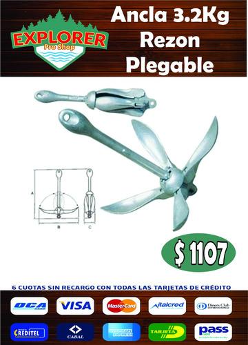 ancla rezon plegable 3.2kg