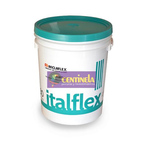 anclaflex italflex  gruesa revestimiento texturado 30kg