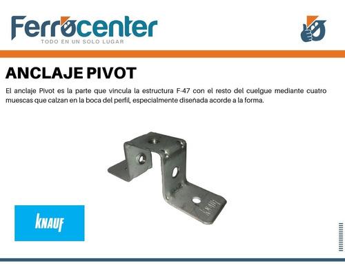 anclaje pivot para sistema f47 cielorraso knauf