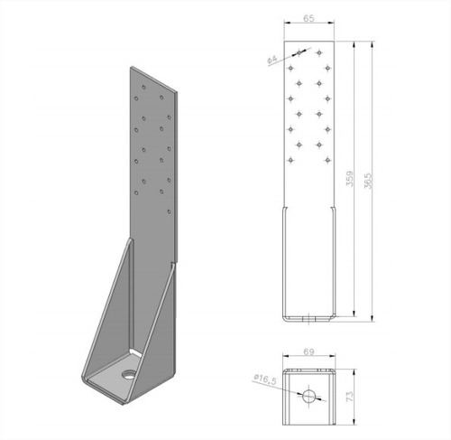 anclaje s htt14 barbieri steel frame