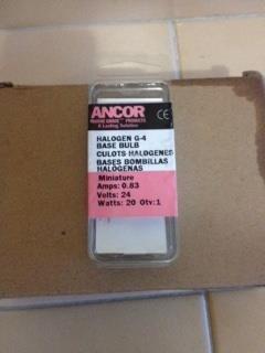 ancor bombillos 24 voltios 20 w, g-4 halogen.para lanchas