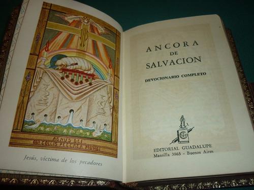 ancora de salvacion con cruz de bronce devocionario completo