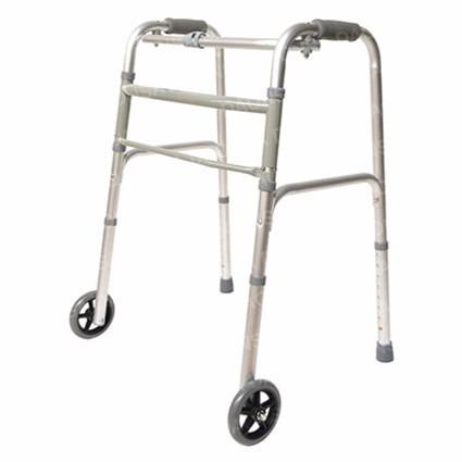 andadera de aluminio plegable con ruedas