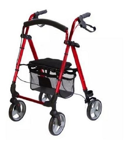 andadera ortopédica rollator de aluminio - adulto