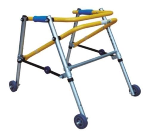 andadera posterior infantil aluminio plegable con ruedas