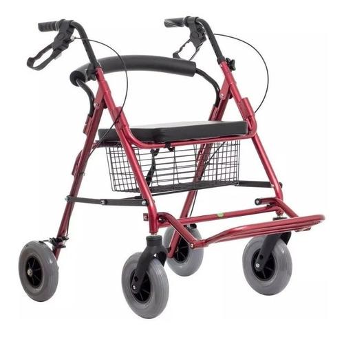 andadera rollator híbrida roja ortopedica envio gratis!