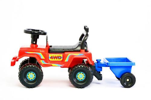 andador andarin pata pata jeep c/ trailer rodacross 1a4 años