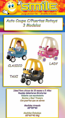 andador auto lady caminador rotoys envio gratis caba!