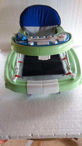 andador + balanço 2 em 1 filler verde com azul novo na caixa
