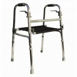andador-caminador con asiento de lona para adulto resistente