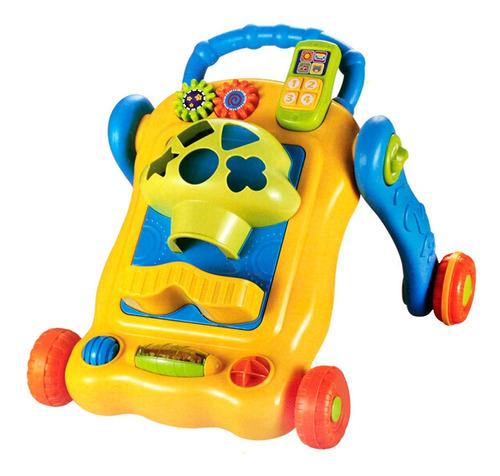 andador con actividades azul infantoys